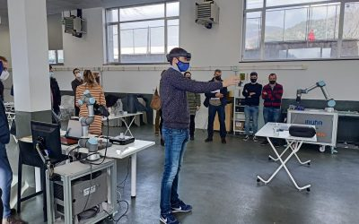 Iruña Tecnologías  visita con Nodo4.0 el centro Dinabide- Coworking teknologikoa