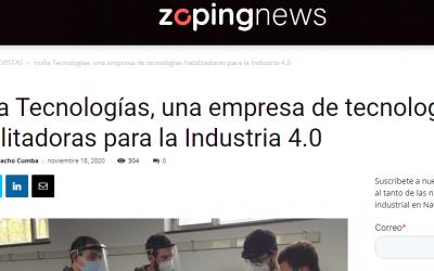 Iruña Tecnologías, una empresa de tecnologías habilitadoras para la Industria 4.0